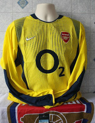 Camiseta De Futbol Arsenal Portero 2002-2003 Popular